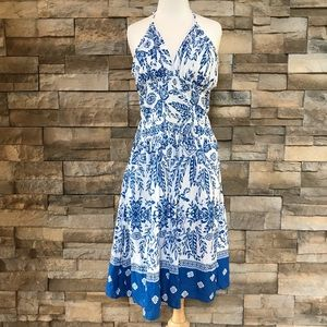 Dresses & Skirts - Blue and white cotton dress
